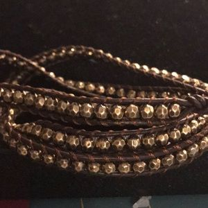Wrap bracelet gold and brown